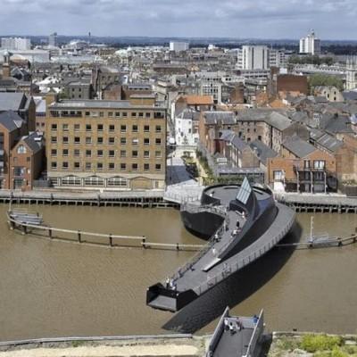 River Hull Footbridge, UK-3